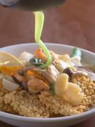 海鮮鍋巴(海の幸と野菜のおこげ料理)1680円