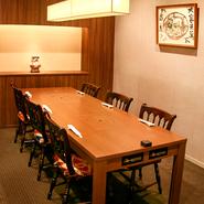 4名様~6名様の完全個室もございます。接待やご会食などのご利用に。