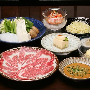 【テーブル】国産牛ロースしゃぶしゃぶ定食