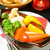 温野菜のサラダ バーニャカウダソース