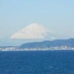 店内から見える富士山