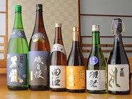 日本酒/焼酎厳選して取り揃えております。