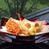 今が旬という食材を天ぷらに