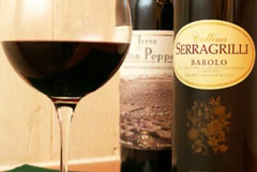 料理と一緒にイタリアンワインを