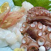 明石蛸の刺身