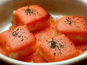 豆腐の明太子ソース焼