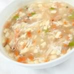 海鮮と豆腐のとろみスープ
