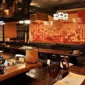 磐城平藩 第5代藩主・安藤信正を描いた壁画がアクセントに