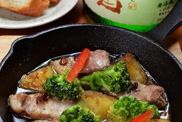 肉の旨みを堪能できる『白河高原清流豚ガーリックオイル焼』