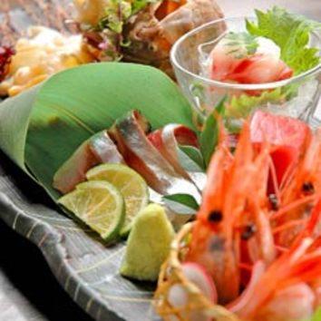 活魚を味わう5500円コース