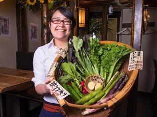 有機農法で丹念に育てた野菜を召し上がれ