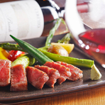 贅沢な食材を使用したコース料理が自慢です。