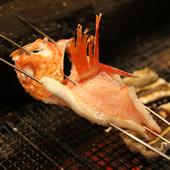 高級食材を備長炭で炙った炭火焼がおすすめ