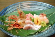 活きの良い魚介類