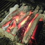 やっぱり、ステーキには炭火です