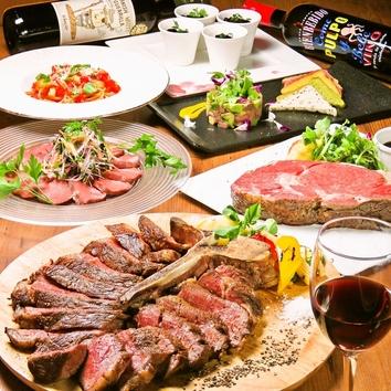 【Tボーンステーキ】特大ローストビーフ 3時間飲み放題¥5,000