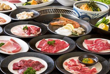 □焼肉食べ放題「特選満腹コース」全86品(2時間)