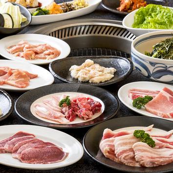 □焼肉食べ放題「百万石満腹コース」全47品(100分間)