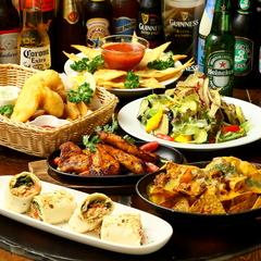人気の料理がおつまみ感覚で食べれる!充実飲み放題! フィッシュ&チップスやケバブロールも食べられる!