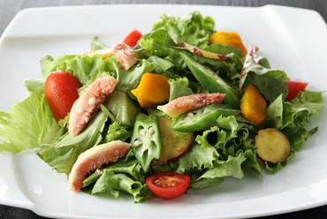 瑞々しい旬の野菜をふんだんに使用した『箱根西麓三島野菜の採れたてサラダ』