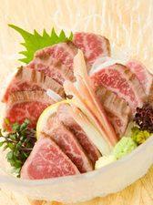 ●甲州ワインビーフ(牛たたき刺し)