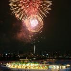 屋形船で夏の夜風をお楽しみください
