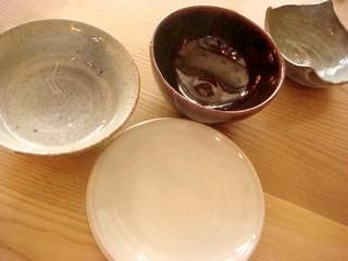私、店主の趣味は陶芸でございます。