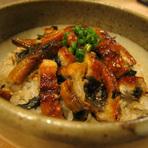 『うな飯』 刻んだ蒲焼と実山椒を絡めた、うなぎの混ぜ飯