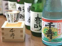 日本酒もおすすめ。様々なお酒に触れて楽しみください。