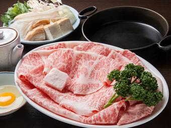 「焼しゃぶ」と「かに甲羅焼き」の逸品料理が含まれる「しあわせコース」
