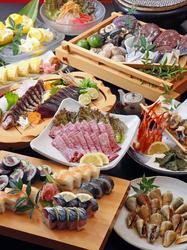 土佐おもてなしコースから土佐和牛特上ミスジと高知産フルーツを除いた おすすめ料理七品コースです。