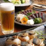 癒しの空間で、地元獲れたての魚介類で夏の宴を乾杯!