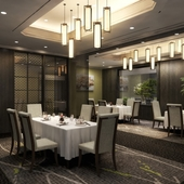 中華料理ならではの円卓は、互いの話を続けるにはふさわしい場所