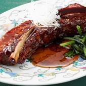 銘柄豚を使った黒酢すぶたのスぺアリブ