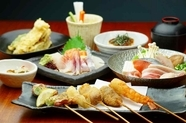 串と小鍋のコース