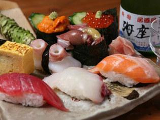 居酒屋感覚でいただける本格的な「にぎり寿司」