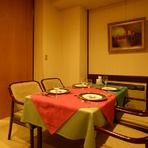 【個室風スペース】6~10名様のテーブル。 会食や接待にもお勧め