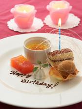 お誕生日、記念日は「デザートプレート」のご用意も承ります