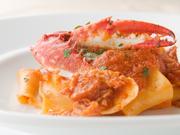 ピッチ(生パスタ) プロシュットとナスのトマトソース or スパゲッティー二 ボッタルガ(イタリア産からすみ)のアーリオ・オーリオ