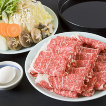 「牛すきやき食べ飲み放題コース」 2時間 4950円(税込)