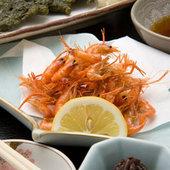 四万十料理・川えび唐揚げ・ごり佃煮・青さのり天ぷら・その他