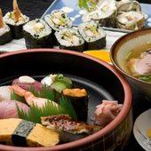 ごはん物・天むす・にぎり盛合せ・魚茶漬け・おすしの天ぷら他
