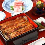 鰻「坂東太郎」を使用した鰻重月定食