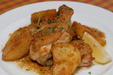 国産若鶏のガーリックソース