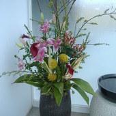 お花でお出迎え。