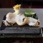 広島の食材を独創的に創作した、舌と目で楽しめる懐石料理の真髄