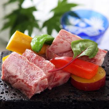 広島牛の石焼きコース