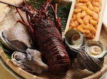 新鮮な魚貝類が味わえる。