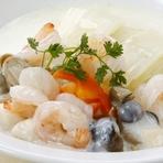 白菜と海老と貝柱のクリーム煮