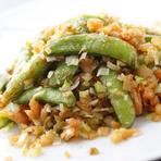 地産スナック豆とザーサイ干しエビのさっぱり炒め